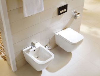 Pack Cuvette + Bidet Architekt Design sans bride- rimfree